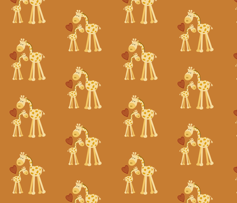 Parents Love: Giraffes  fabric by forthelove on Spoonflower - custom fabric