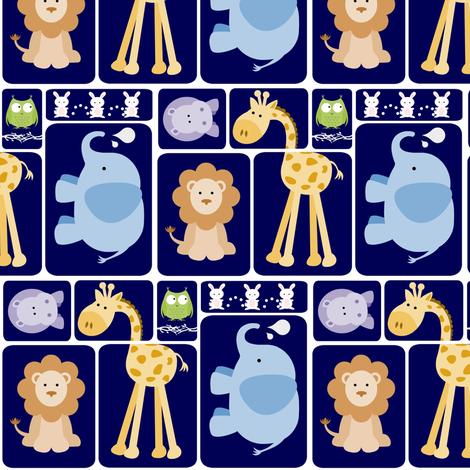 Animal Blocks fabric by forthelove on Spoonflower - custom fabric