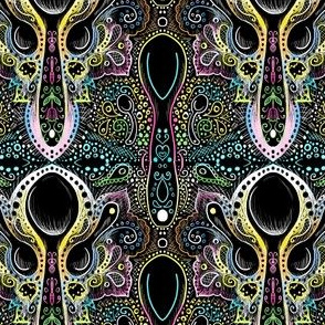 spoon damask midnight neon
