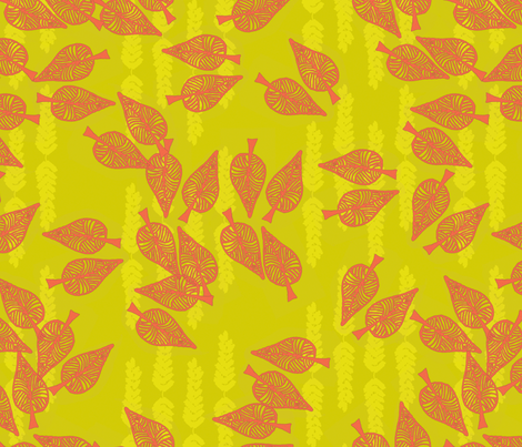 Leaves fabric by paperondesign on Spoonflower - custom fabric