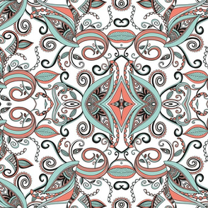 Spoonflower_-_mint__coral_b_w_finished