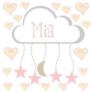 star moon heart mobile - petal personalzied