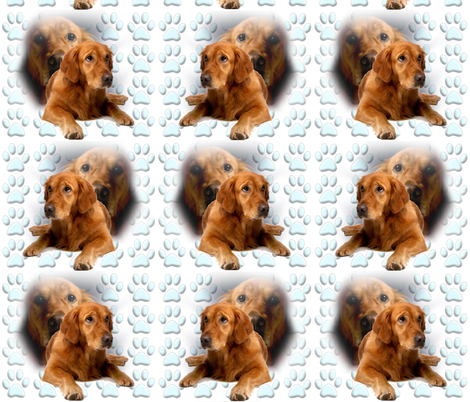 Golden Retriever Portrait fabric by dogdaze_ on Spoonflower - custom fabric