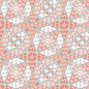 coral quilt