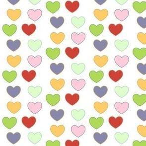 Rainbow Hearts Mini - plum