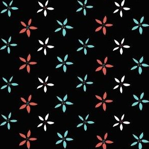 Flowers_from_Kirkcudbright_coral__mint__white__black