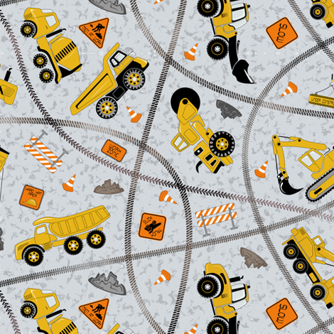 Construction zone (large scale) fabric by gabriellemutel on Spoonflower - custom fabric