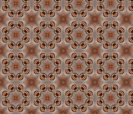 Coppertone Shield Kaleidoscope 04 fabric by stradling_designs on Spoonflower - custom fabric