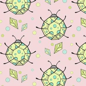 Ladybug - pink/yellow