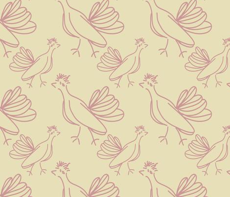 Roadrunners on Tumbleweed fabric by anniedeb on Spoonflower - custom fabric
