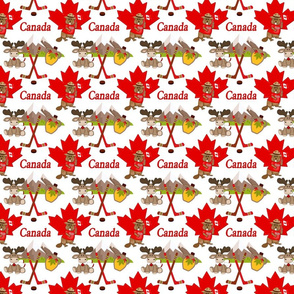 Proudly Canadian Beaver and Moose