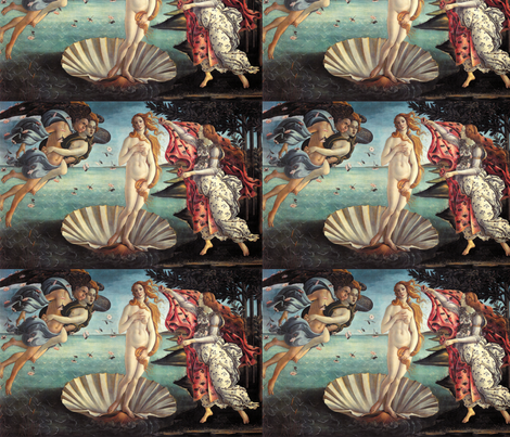 Birth of Venus  fabric by lapittrice13 on Spoonflower - custom fabric