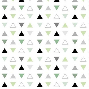mint grey triangles