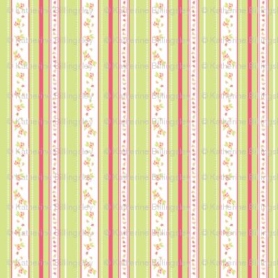 Peach Roses Coordinate Stripe Wallpaper Katebillingsley