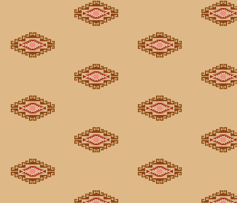 Cowgirl tan simple fabric by pamelachi on Spoonflower - custom fabric