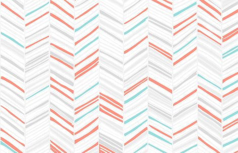 Friztin_herringbone_hues_coral_mint_shop_preview