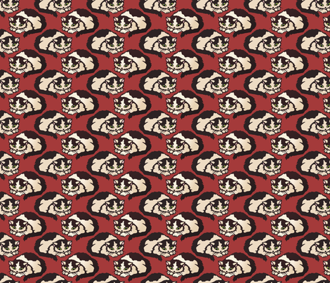 shy kitty fabric by hannafate on Spoonflower - custom fabric