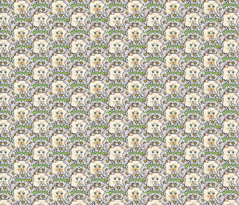 kittyflowers fabric by hannafate on Spoonflower - custom fabric