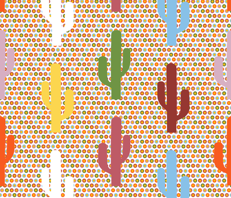 cactus_dot_relief_multi fabric by tangledvinestudio on Spoonflower - custom fabric