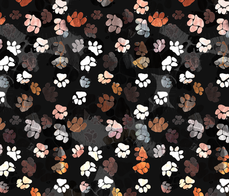 Beagle Batik - Paws fabric by wiccked on Spoonflower - custom fabric