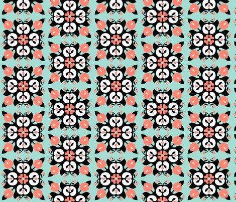 Hawaiian tiles fabric by lucybaribeau on Spoonflower - custom fabric