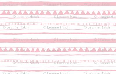 Drawn Stripe Pink