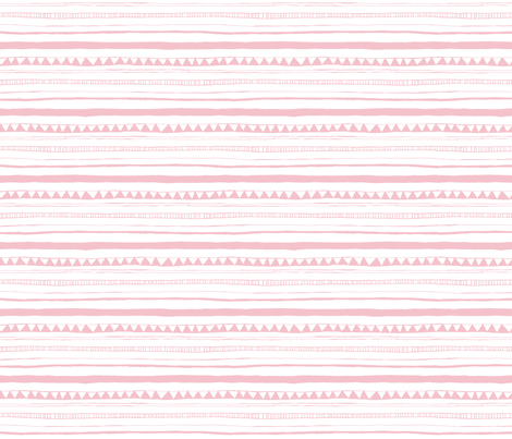 Drawn Stripe Pink fabric by leanne on Spoonflower - custom fabric