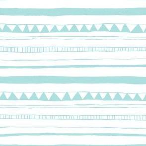 Drawn Stripe Blue