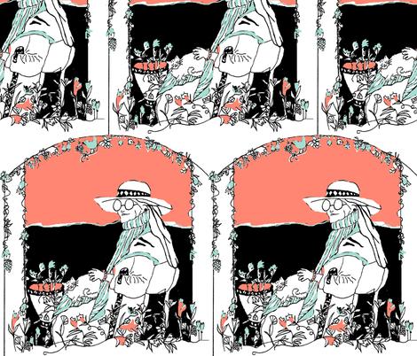 Flourish fabric by kimruss@thatcatart on Spoonflower - custom fabric