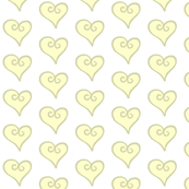 yellow hearts - large