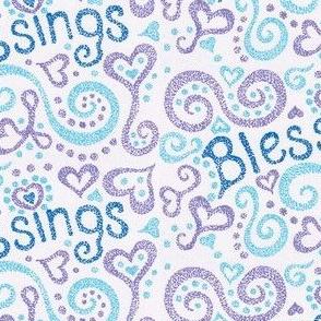 Blessings, blue & purple