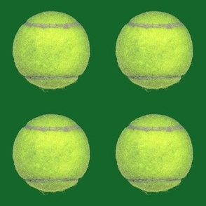 "4"" tennis balls on green"
