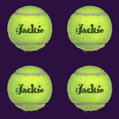 custom order - personalized tennis balls - Jackie