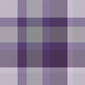 Plum and White Plaid