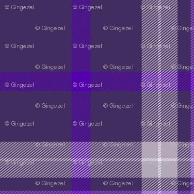 Plum Purple and White Plaid