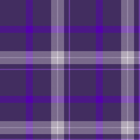 Plum Purple and White Plaid fabric by gingezel on Spoonflower - custom fabric