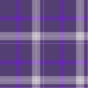 Plum Purple and White Plaid