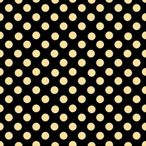 Yellow polka dots on black