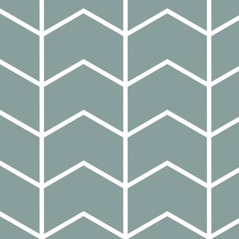 chevron // blue fabric by littlearrowdesign on Spoonflower - custom fabric