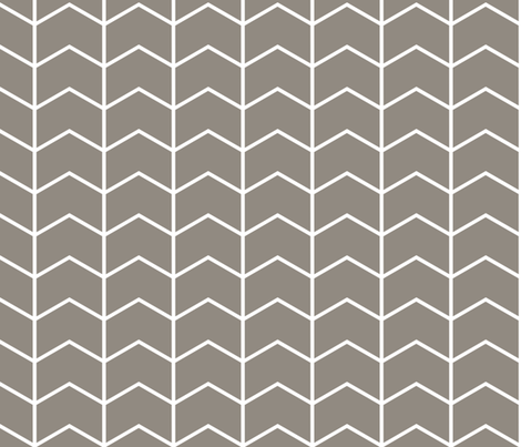 chevron // brown fabric by littlearrowdesign on Spoonflower - custom fabric