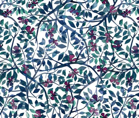 Butterflies in the Garden fabric by alannah_brid on Spoonflower - custom fabric