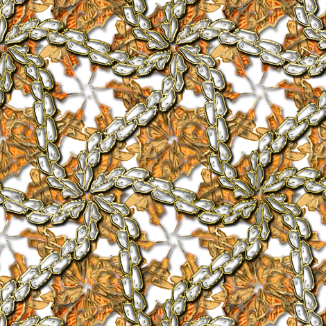 Leaf Swirls on Ice 2 fabric by eclectic_house on Spoonflower - custom fabric