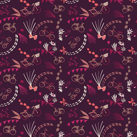 Weeknight Bike Ride fabric by bermudezbahama on Spoonflower - custom fabric