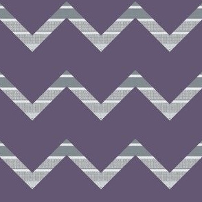 Plum Purple and Gray Chevron