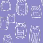 """""""Little"""" Night Owl Lavender/White"""