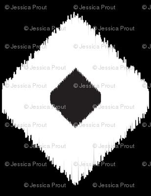 Ikat Diamonds // Black and White
