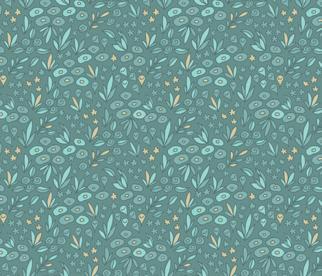 floral pattern fabric by kostolom3000 on Spoonflower - custom fabric