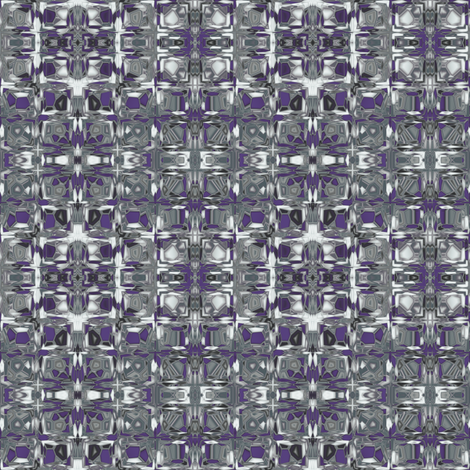 Plum and Sage Green Mosaic fabric by gingezel on Spoonflower - custom fabric