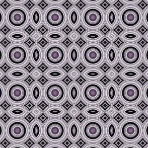 Plum Circles and Ovals Mosaic Geometric