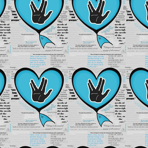 Spock heart with quotes